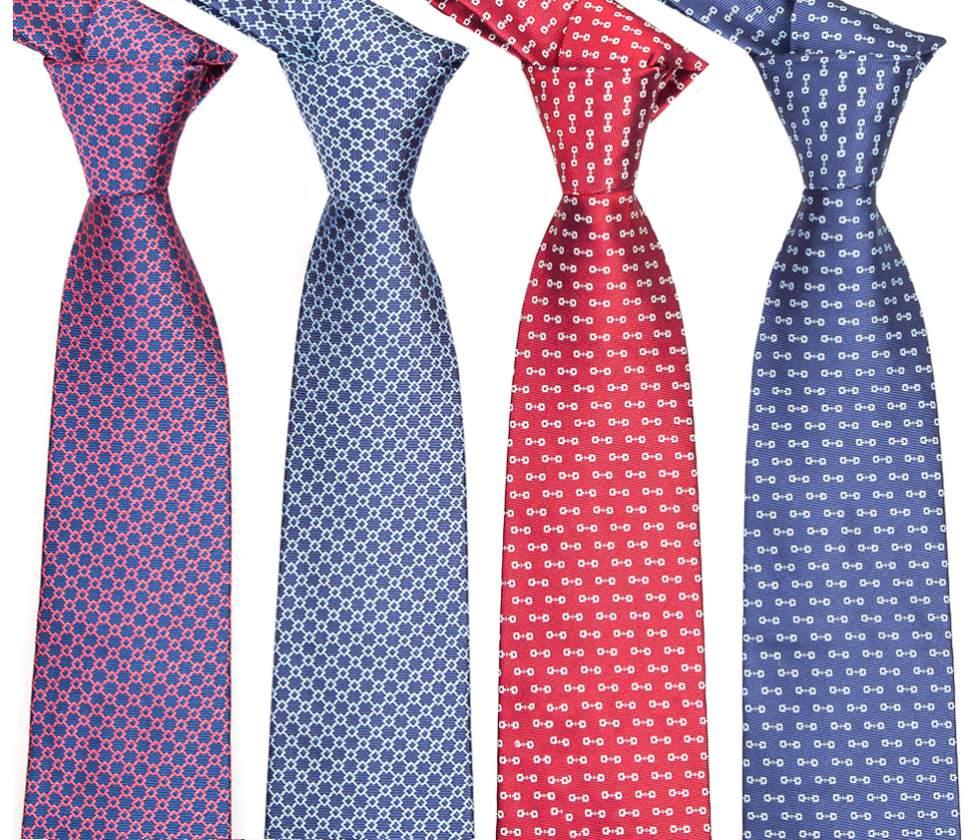 Hombres de la manera Colorida Lazos Corbata de Punto de